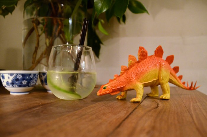 Go home Stegosaurus, you're drunk! The soon to be famous JG&T (Jasmine tea, Westwinds Gin & Capi tonic).