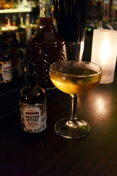 Smoke from Stone - West Winds Sabre Gin, Lillet Blanc, Apricot Brandy, Mister Bitters Honeyed Apricot & Smoked Hickory