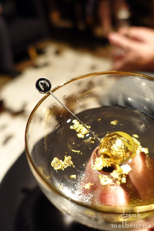 Liquid Gold Melt Martini by Bar Ampere