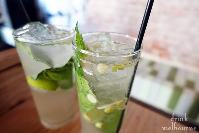 Lemongrass spiked West Winds gin mules at St. Hotel