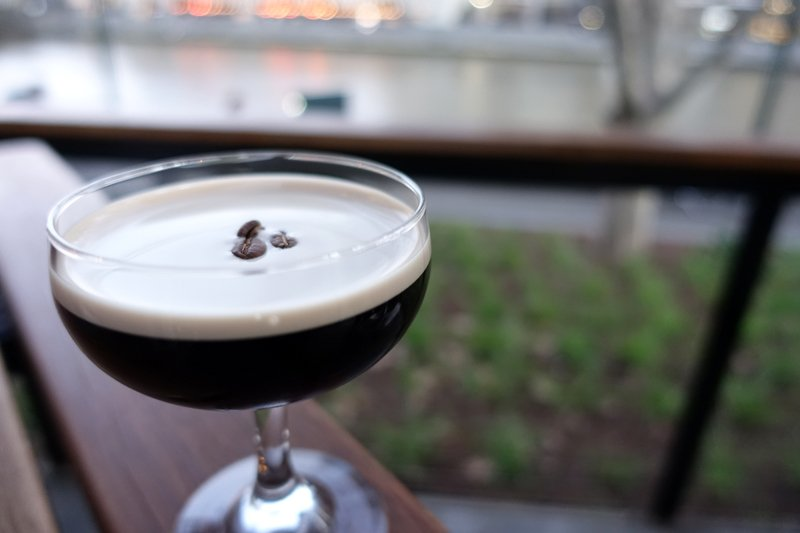 Nitro Espresso Martini:  Ketel One Vodka, Kahlua, Little Drippa Cold Drip Coffee charged with Nitrogen and served chilled from the tap