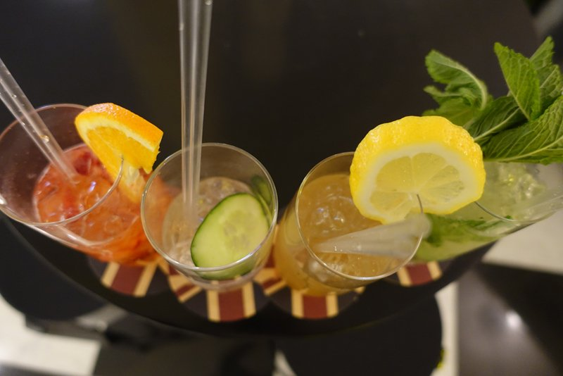 Cocktails at Bar Schweppes pop-up Melbourne