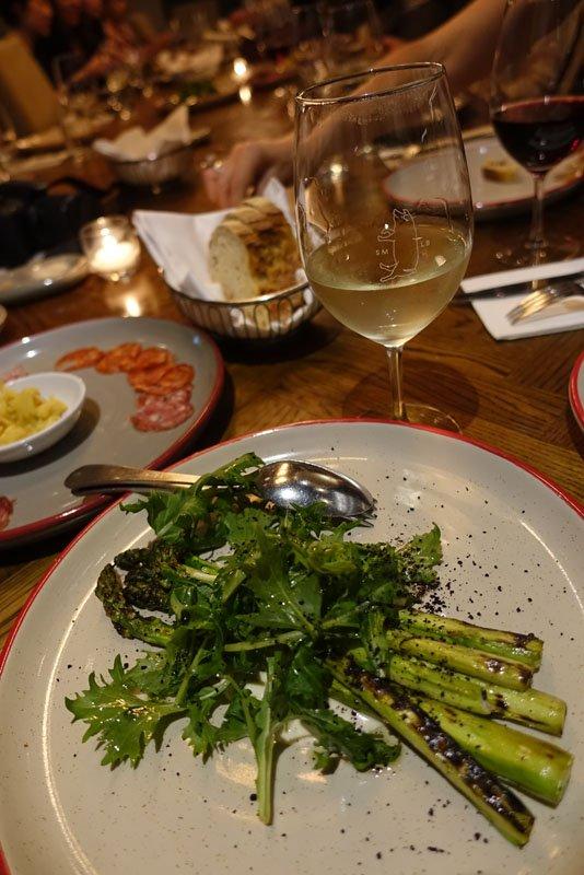 Koo Wee Rup Asparagus, Almond Gazpacho, Mizuna
