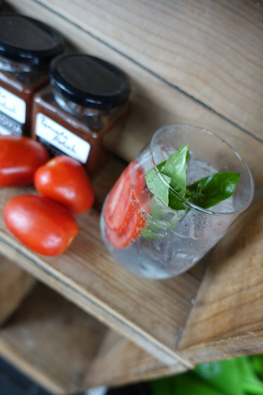 G&T with tomato and basil