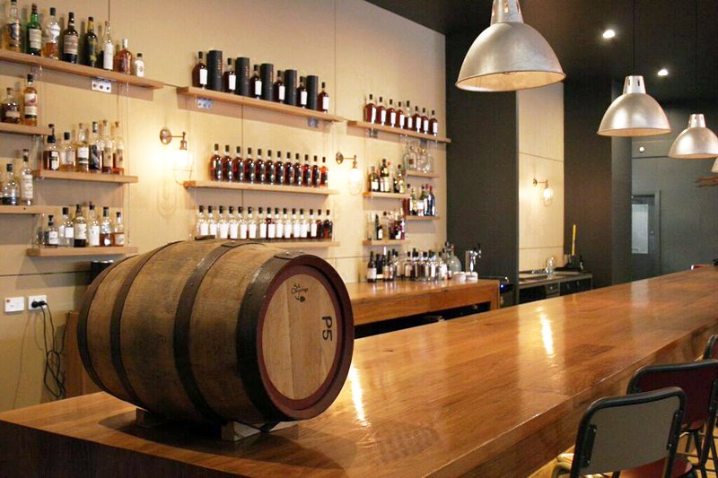 New World Whisky Distillery bar