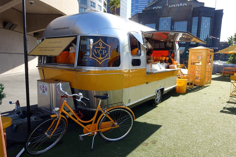 Veuve Clicquot Airstream at Fatto
