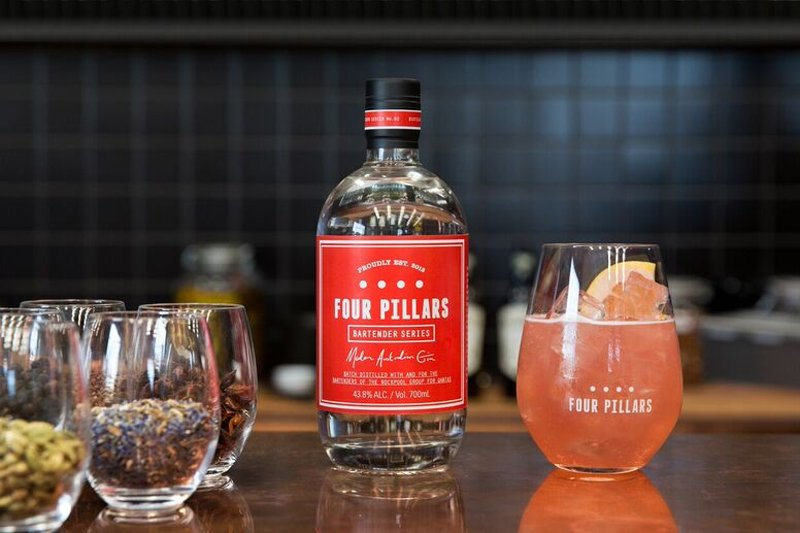 Modern Australian gin by Four Pillars & Rockpool