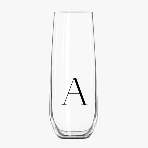 Initialled Champagne Flutes