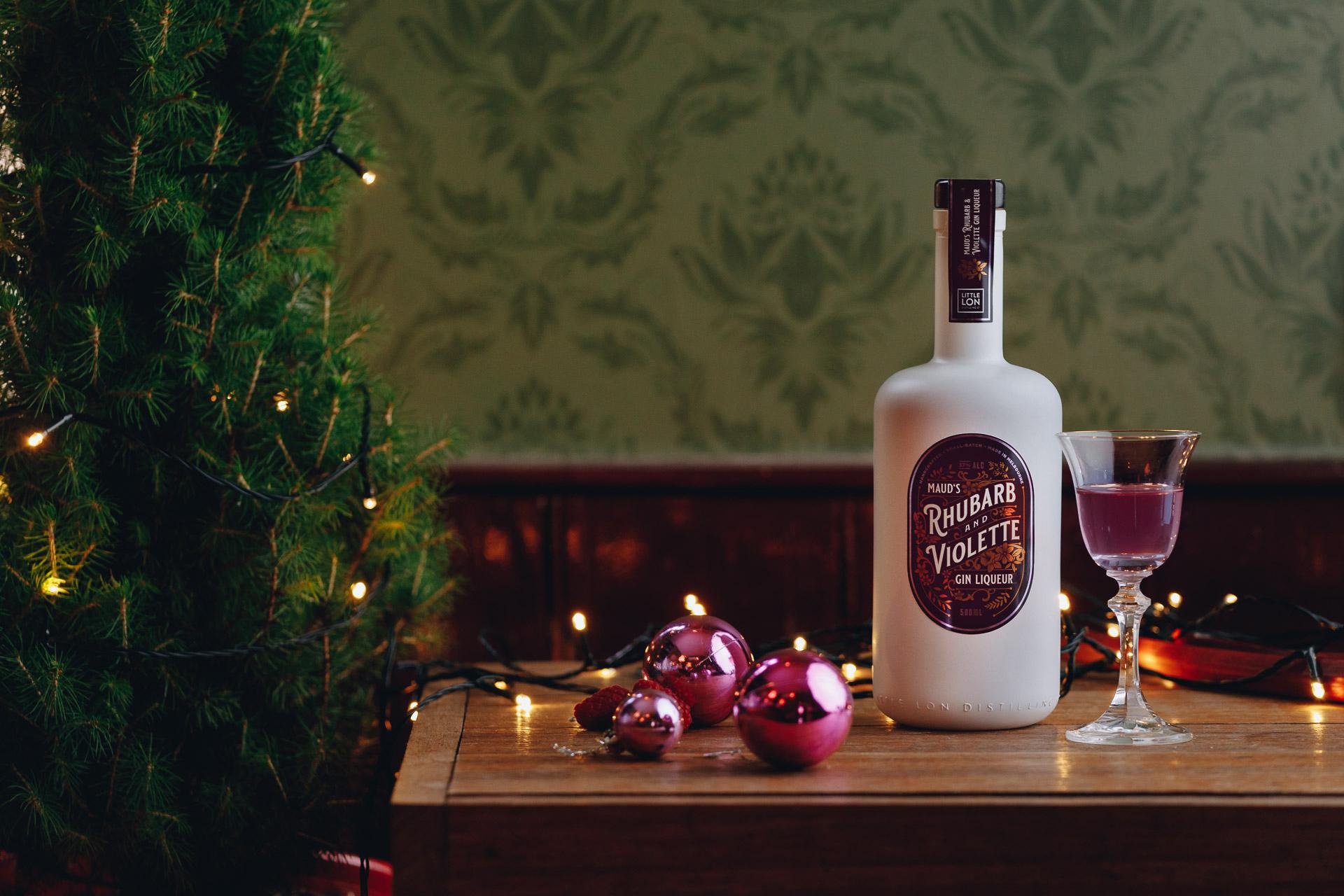 Maud's Rhubarb & Violette Gin Liqueur by Little Lon